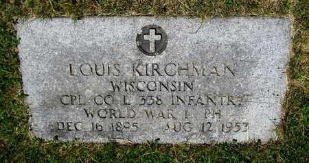 KIRCHMAN, LOUIS - Kewaunee County, Wisconsin | LOUIS KIRCHMAN - Wisconsin Gravestone Photos