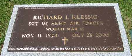 KLESSIG, RICHARD L. - Kewaunee County, Wisconsin | RICHARD L. KLESSIG - Wisconsin Gravestone Photos
