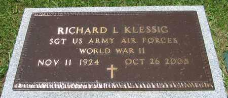 KLESSIG, RICHARD L. - Kewaunee County, Wisconsin | RICHARD L. KLESSIG - Wisconsin Gravestone Photos