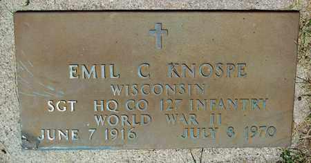 KNOSPE, EMIL C. - Kewaunee County, Wisconsin | EMIL C. KNOSPE - Wisconsin Gravestone Photos
