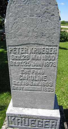 KRUEGER, PETER - Kewaunee County, Wisconsin | PETER KRUEGER - Wisconsin Gravestone Photos