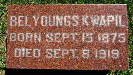 YOUNGS KWAPIL, BEL - Kewaunee County, Wisconsin | BEL YOUNGS KWAPIL - Wisconsin Gravestone Photos