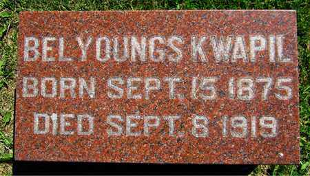 YOUNGS KWAPIL, BEL - Kewaunee County, Wisconsin | BEL YOUNGS KWAPIL - Wisconsin Gravestone Photos
