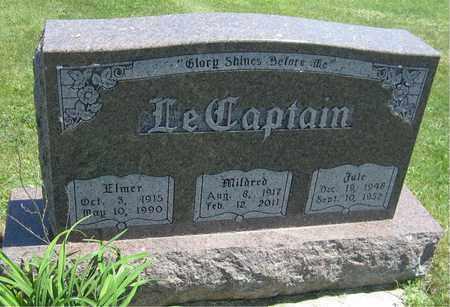 LECAPTAIN, ELMER - Kewaunee County, Wisconsin   ELMER LECAPTAIN - Wisconsin Gravestone Photos