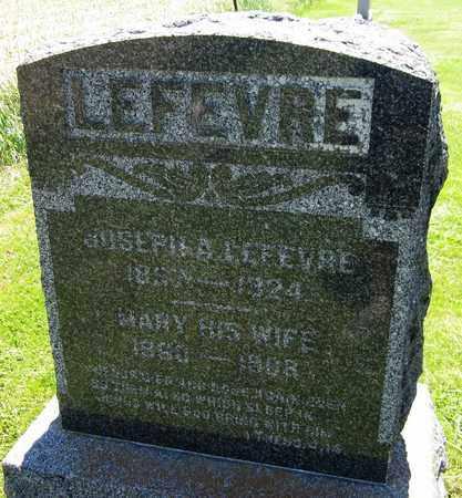 LEFEVRE, MARY - Kewaunee County, Wisconsin | MARY LEFEVRE - Wisconsin Gravestone Photos