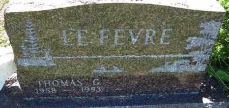 LEFEVRE, THOMAS G. - Kewaunee County, Wisconsin   THOMAS G. LEFEVRE - Wisconsin Gravestone Photos