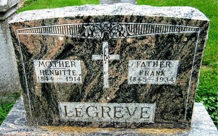 LEGREVE, FRANK - Kewaunee County, Wisconsin   FRANK LEGREVE - Wisconsin Gravestone Photos