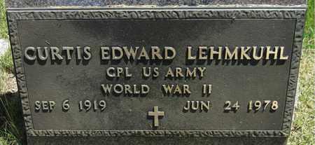 LEHMKUHL, CURTIS EDWARD - Kewaunee County, Wisconsin   CURTIS EDWARD LEHMKUHL - Wisconsin Gravestone Photos