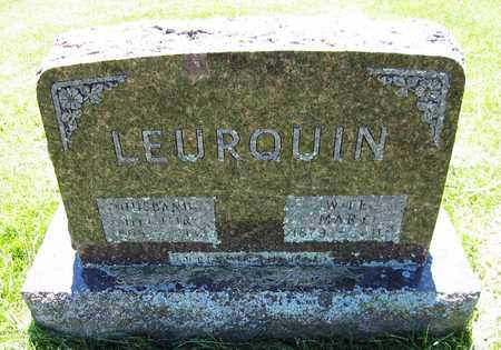 LEURQUIN, MARY - Kewaunee County, Wisconsin | MARY LEURQUIN - Wisconsin Gravestone Photos