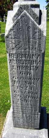 LOHREY, BERNDINA ALBERTINA - Kewaunee County, Wisconsin | BERNDINA ALBERTINA LOHREY - Wisconsin Gravestone Photos