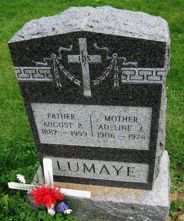 LUMAYE, AUGUST P. - Kewaunee County, Wisconsin   AUGUST P. LUMAYE - Wisconsin Gravestone Photos