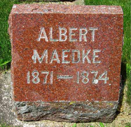 MAEDKE, ALBERT - Kewaunee County, Wisconsin | ALBERT MAEDKE - Wisconsin Gravestone Photos