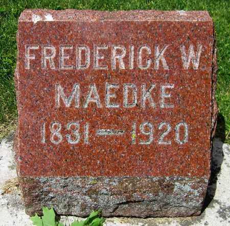 MAEDKE, FREDERICK W. - Kewaunee County, Wisconsin   FREDERICK W. MAEDKE - Wisconsin Gravestone Photos