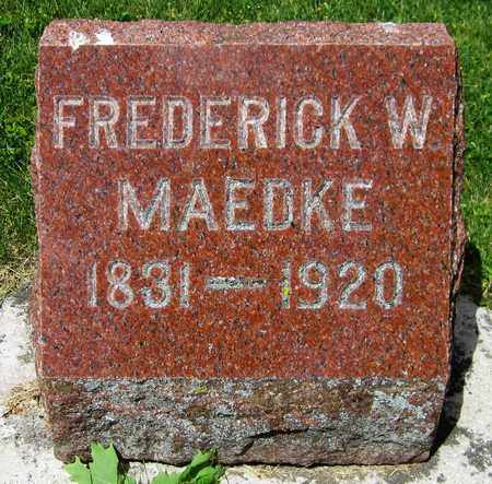 MAEDKE, FREDERICK W. - Kewaunee County, Wisconsin | FREDERICK W. MAEDKE - Wisconsin Gravestone Photos