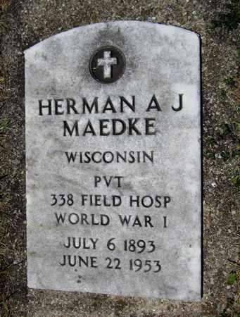 MAEDKE, HERMAN A. J. - Kewaunee County, Wisconsin | HERMAN A. J. MAEDKE - Wisconsin Gravestone Photos