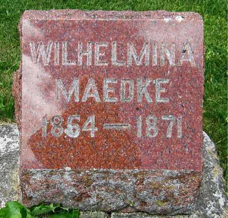 MAEDKE, WILHELMINA - Kewaunee County, Wisconsin | WILHELMINA MAEDKE - Wisconsin Gravestone Photos