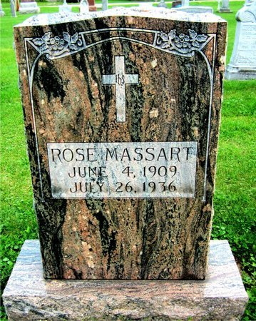 MASSART, ROSE - Kewaunee County, Wisconsin   ROSE MASSART - Wisconsin Gravestone Photos
