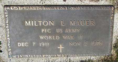 MAUER, MILTON L. - Kewaunee County, Wisconsin | MILTON L. MAUER - Wisconsin Gravestone Photos