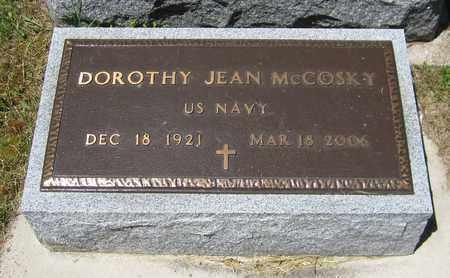 MCCOSKY, DOROTHY JEAN - Kewaunee County, Wisconsin | DOROTHY JEAN MCCOSKY - Wisconsin Gravestone Photos