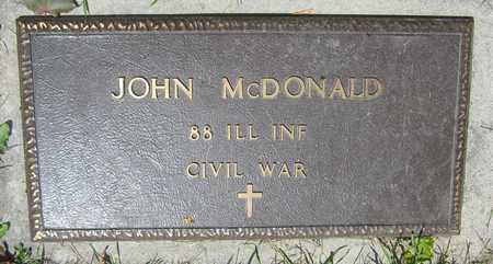 MCDONALD, JOHN - Kewaunee County, Wisconsin | JOHN MCDONALD - Wisconsin Gravestone Photos