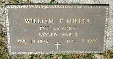 MILER, WILLIAM F. - Kewaunee County, Wisconsin | WILLIAM F. MILER - Wisconsin Gravestone Photos