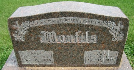 MONFILS, JULE - Kewaunee County, Wisconsin | JULE MONFILS - Wisconsin Gravestone Photos