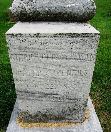 TILMAN MONFILS, MARIELOUISE - Kewaunee County, Wisconsin | MARIELOUISE TILMAN MONFILS - Wisconsin Gravestone Photos