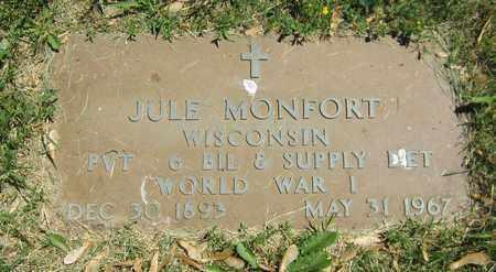 MONFORT, JULE - Kewaunee County, Wisconsin   JULE MONFORT - Wisconsin Gravestone Photos