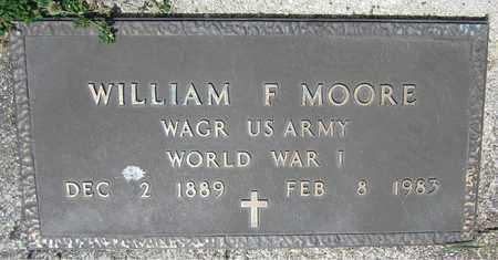 MOORE, WILLIAM F. - Kewaunee County, Wisconsin | WILLIAM F. MOORE - Wisconsin Gravestone Photos