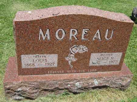 MOREAU, ALICE - Kewaunee County, Wisconsin   ALICE MOREAU - Wisconsin Gravestone Photos