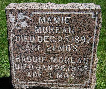 MOREAU, HADDIE - Kewaunee County, Wisconsin   HADDIE MOREAU - Wisconsin Gravestone Photos