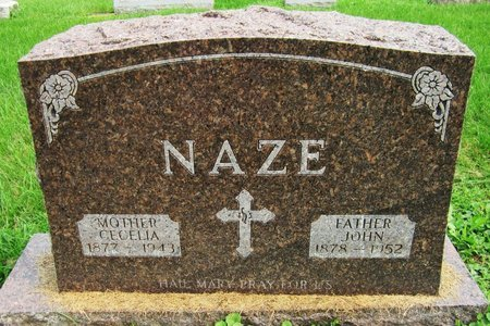 NAZE, CECELIA - Kewaunee County, Wisconsin   CECELIA NAZE - Wisconsin Gravestone Photos