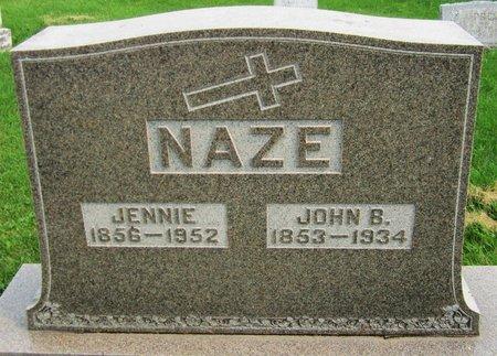 NAZE, JOHN B. - Kewaunee County, Wisconsin | JOHN B. NAZE - Wisconsin Gravestone Photos