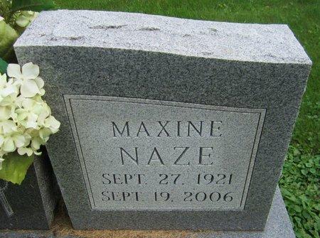 NAZE, MAXINE - Kewaunee County, Wisconsin | MAXINE NAZE - Wisconsin Gravestone Photos