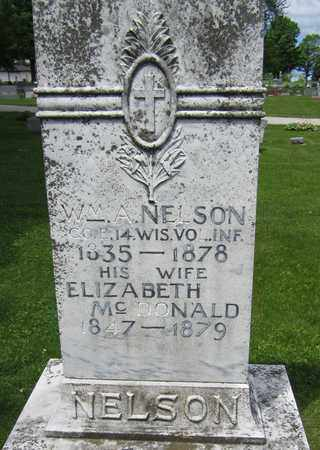 MCDONALD NELSON, ELIZABETH - Kewaunee County, Wisconsin | ELIZABETH MCDONALD NELSON - Wisconsin Gravestone Photos