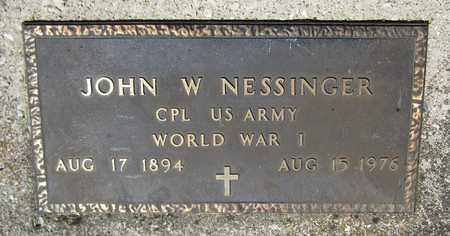 NESSINGER, JOHN W. - Kewaunee County, Wisconsin | JOHN W. NESSINGER - Wisconsin Gravestone Photos