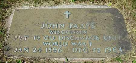 PAAPE, JOHN - Kewaunee County, Wisconsin | JOHN PAAPE - Wisconsin Gravestone Photos