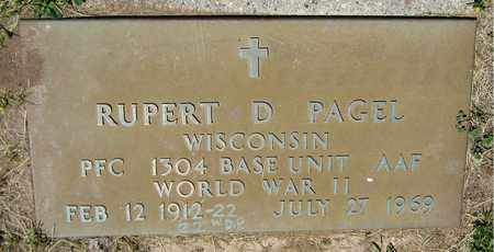 PAGEL, RUPERT D. - Kewaunee County, Wisconsin | RUPERT D. PAGEL - Wisconsin Gravestone Photos