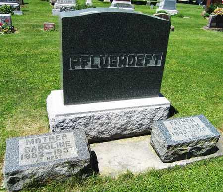 PFLUGHOEFT, CAROLINE - Kewaunee County, Wisconsin | CAROLINE PFLUGHOEFT - Wisconsin Gravestone Photos