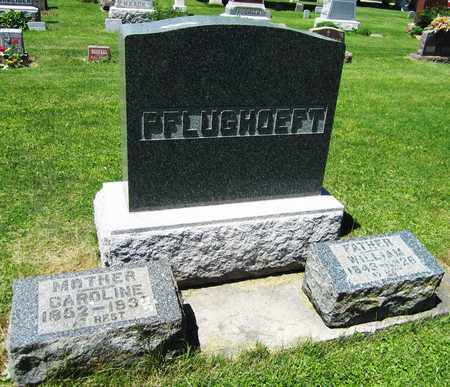 PFLUGHOEFT, WILLIAM - Kewaunee County, Wisconsin | WILLIAM PFLUGHOEFT - Wisconsin Gravestone Photos