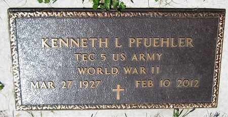 PFUEHLER, KENNETH L. - Kewaunee County, Wisconsin | KENNETH L. PFUEHLER - Wisconsin Gravestone Photos