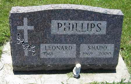 PHILLIPS, SHADO - Kewaunee County, Wisconsin   SHADO PHILLIPS - Wisconsin Gravestone Photos
