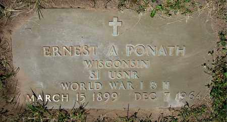 PONATH, ERNEST A. - Kewaunee County, Wisconsin | ERNEST A. PONATH - Wisconsin Gravestone Photos