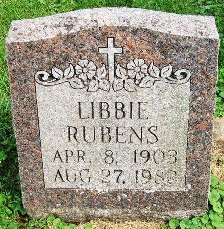 RUBENS, LIBBIE - Kewaunee County, Wisconsin | LIBBIE RUBENS - Wisconsin Gravestone Photos