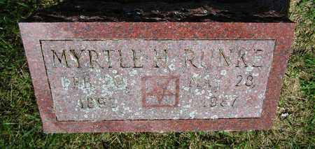 RUNKE, MYRTLE - Kewaunee County, Wisconsin | MYRTLE RUNKE - Wisconsin Gravestone Photos