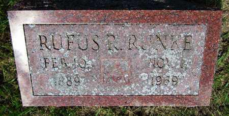 RUNKE, RUFUS - Kewaunee County, Wisconsin | RUFUS RUNKE - Wisconsin Gravestone Photos