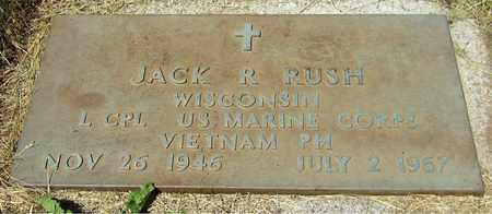 RUSH, JACK R. - Kewaunee County, Wisconsin | JACK R. RUSH - Wisconsin Gravestone Photos