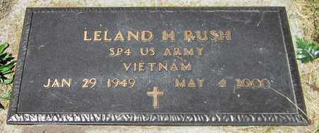 RUSH, LELAND H. - Kewaunee County, Wisconsin | LELAND H. RUSH - Wisconsin Gravestone Photos