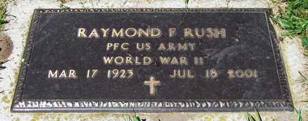 RUSH, RAYMOND F. - Kewaunee County, Wisconsin | RAYMOND F. RUSH - Wisconsin Gravestone Photos