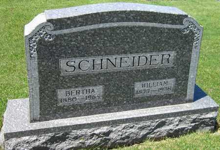 SCHNEIDER, BERTHA - Kewaunee County, Wisconsin | BERTHA SCHNEIDER - Wisconsin Gravestone Photos
